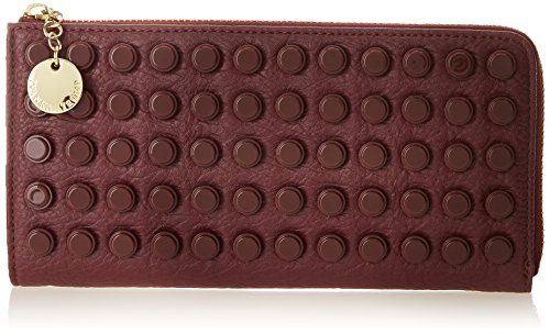 Ivanka Trump Caden Zip Around Wallet,Berry,One Size | Your #1 Source for Jewelry and Accessories