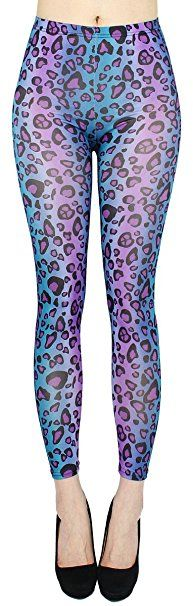 772bf96d6de974 Animal Print Leggings Damen weiche Leggings in Tiger Leopard Muster - JL144  (JL144-LilaTiger