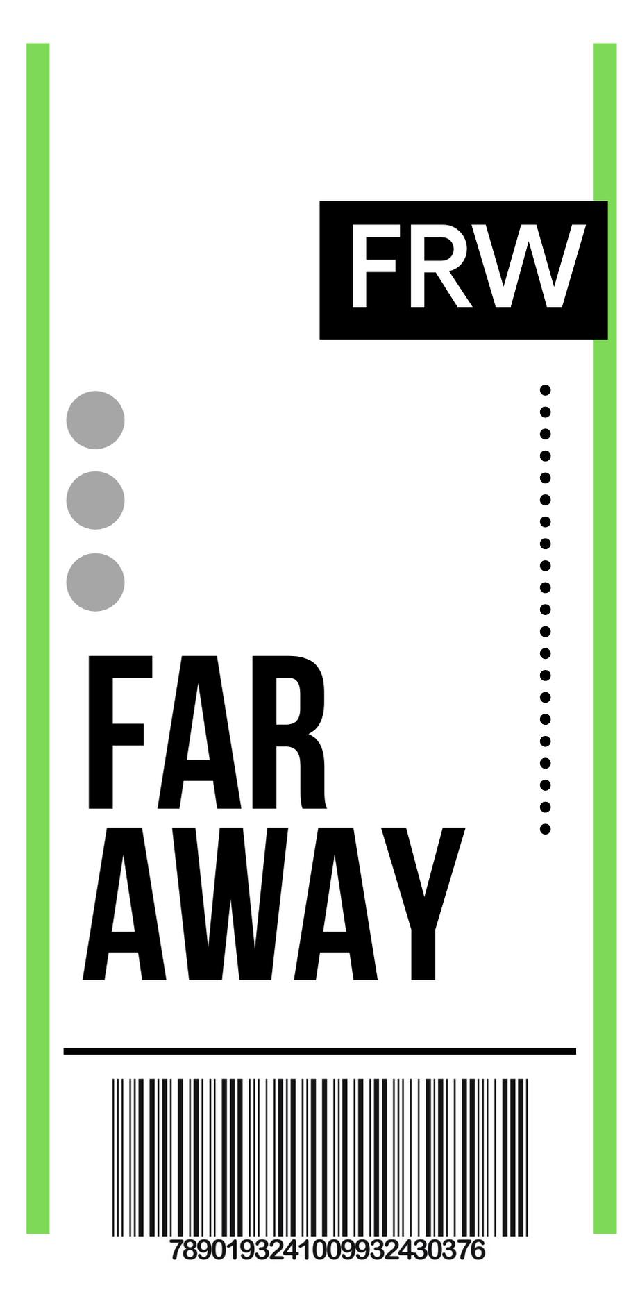 FLY TICKET TO FAR AWAY en 2020 Diseño de pegatina