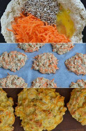 Dejligt saftige gulerodsbrud med solsikkekerner, som tilføjer lidt skønt bid til de luftige boller. Og så er de tilmed sunde.