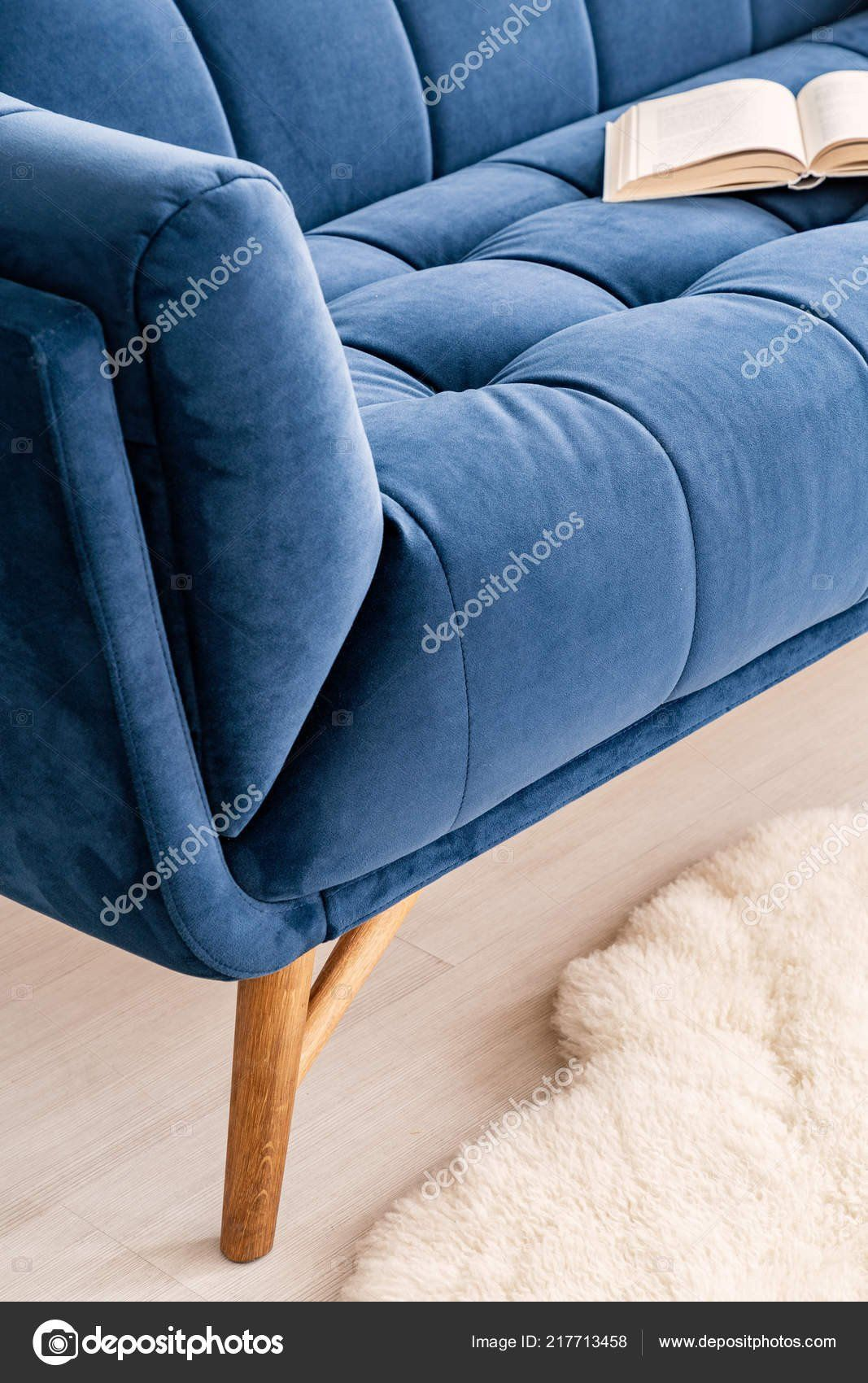 Tapestry Sofa Living Room Furniture Close Part Couch Dressed Luxurious Navy Blue Tapestry Living In 2020 Living Room Sofa Living Room Furniture Furniture