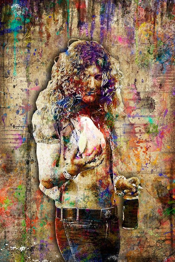 Robert Plant Print, Robert Plant Artwork, Robert Plant Tribute Art, Robert Plant Poster for Led Zepp #robertplant