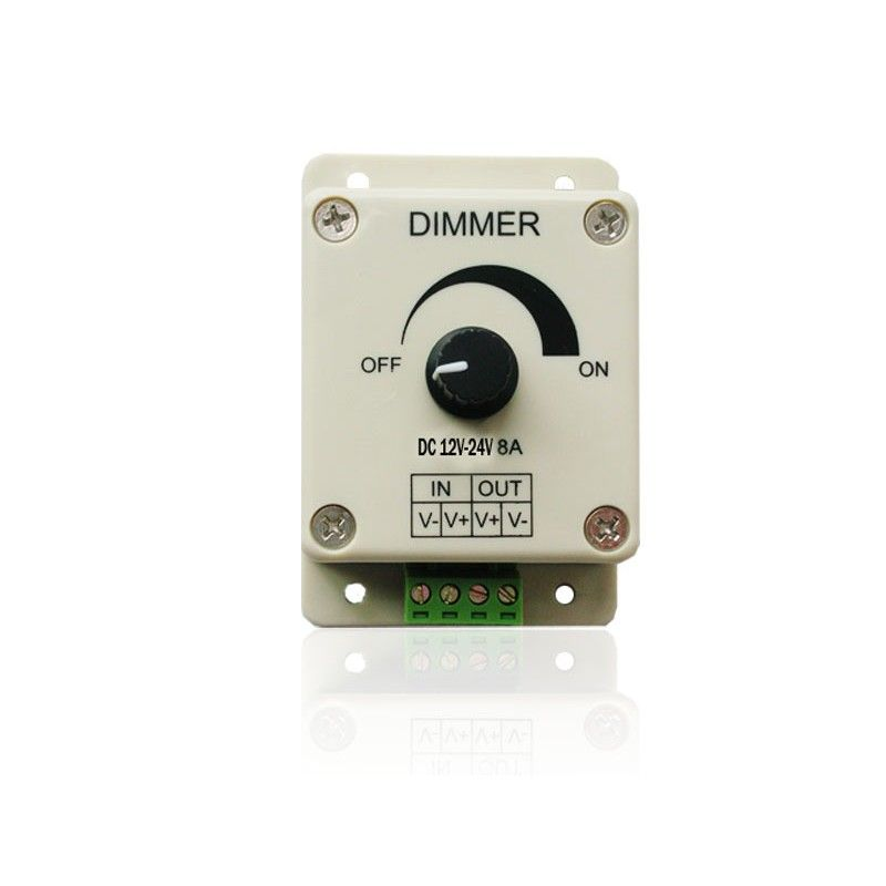 New Led Light Lamp Strip Dimmer Brightness Adjustable Control 12 24v 8a Led Strip Dimmer Led Dimmer Led Light Lamp Dimmer
