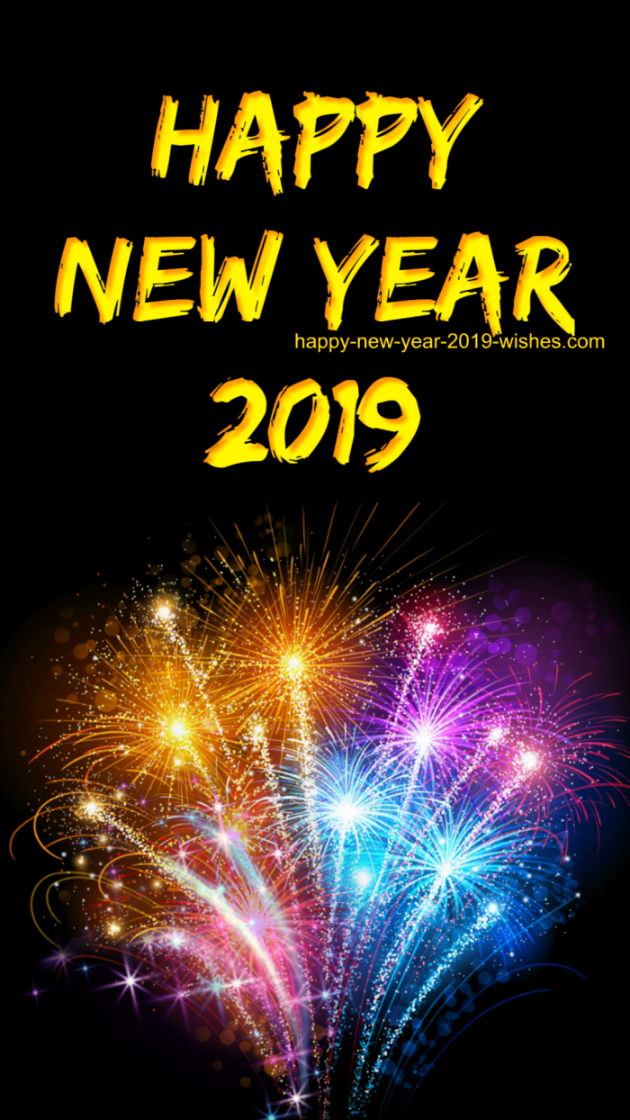 This is one of the most interesting happy new year 2019 mobile wallpaper which is very