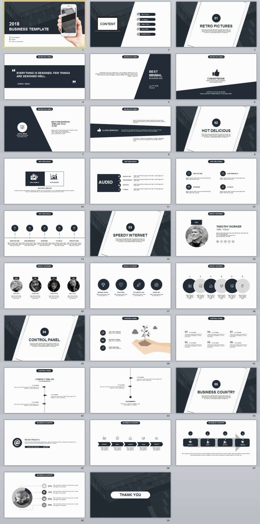 Black Business Plan Presentation Powerpoint Templates