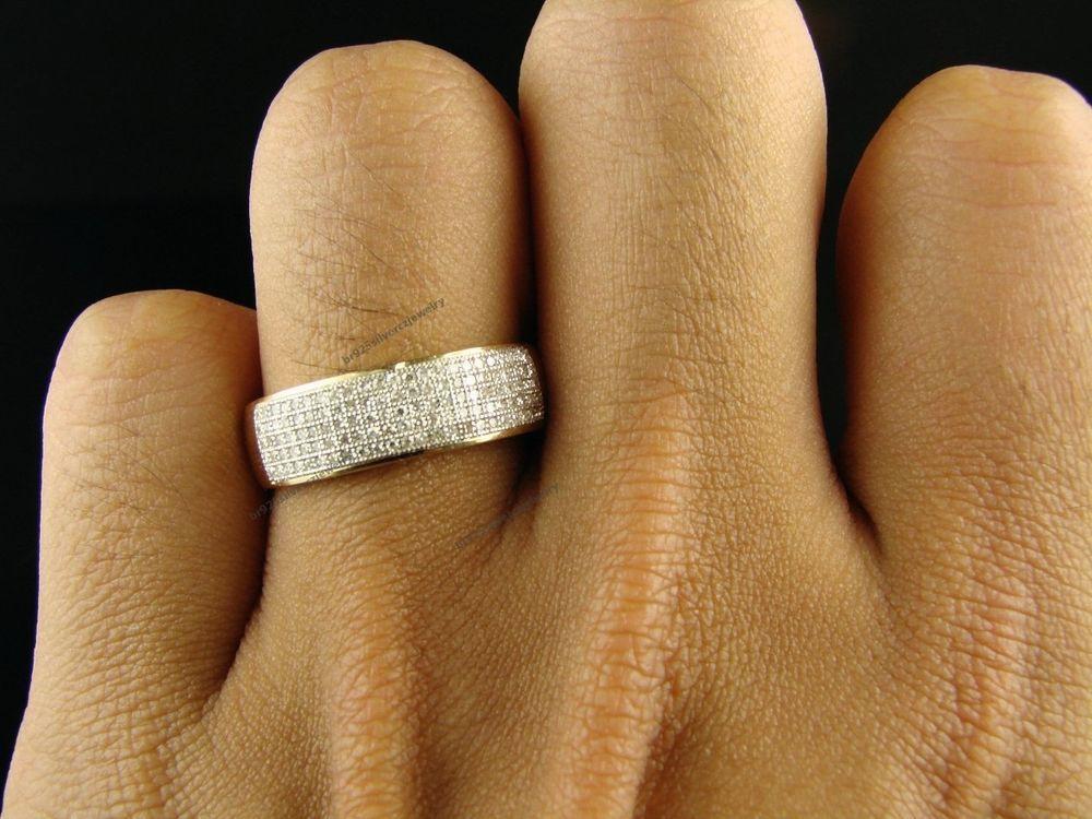 Men S 10k Yellow Gold Wedding Band Diamond Ring Size 7 8 9 10 11 12 13 14 Yellow Gold Diamond Wedding Band Diamond Rings Bands Men Diamond Ring