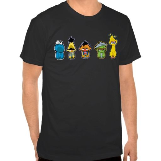 Zombie Sesame Street Characters T-shirts