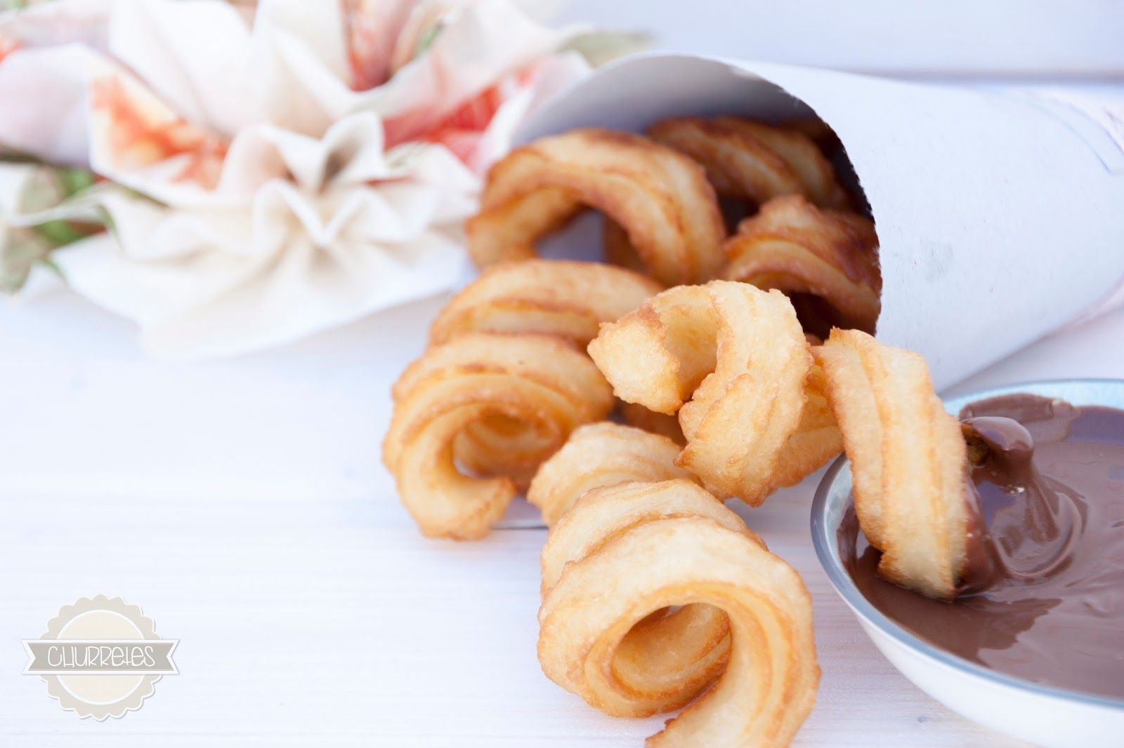Churretes de Cocholate: CHURROS CON NUTELLA