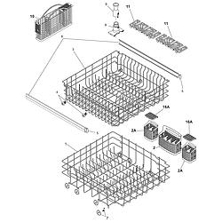 Kenmore Dishwasher Racks Parts Kenmore Model 587 16193400 Dishwasher Racks Dishwasher Parts Kenmore
