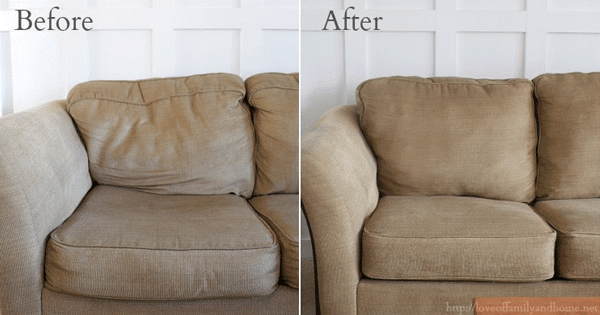 How To Make Your Lumpy Couch Look Like New Diy Couch Makeover Couch Makeover Diy Couch