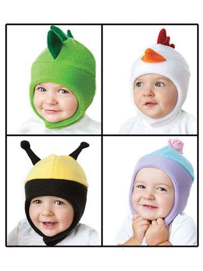 93e7602d96f Fleece Animal Hats Sewing Pattern Vol 2