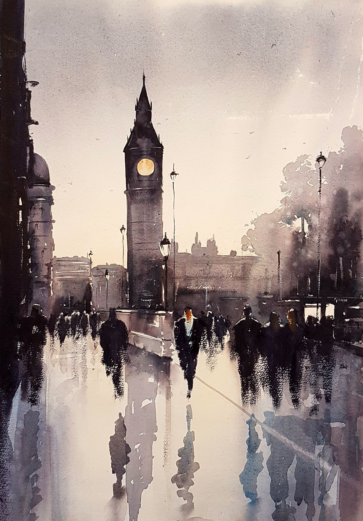 watercolour london watercolor paintings in 2018 pinterest