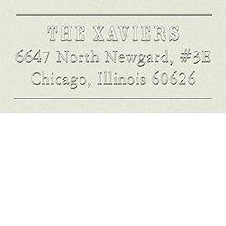 Howard address embosser for the reverse side of wedding invitations