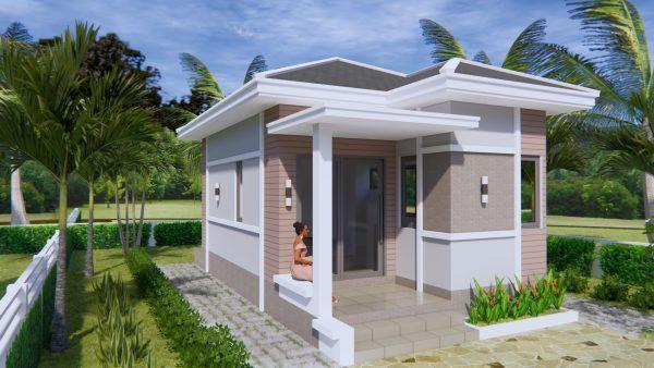 Studio House Plans 6x8 Hip Roof Tiny House Design 3d Small House Design Plans Small House Plans Tiny House Design