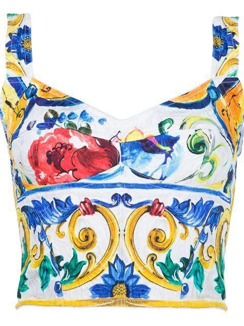6e2d07bb DOLCE & GABBANA Majolica Print Bralet Top. #dolcegabbana #cloth #top ...