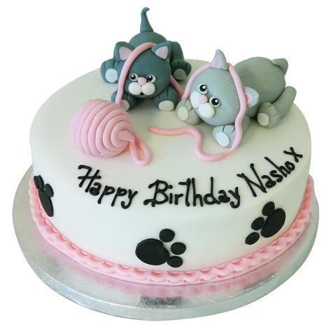 Admirable Cats Cake Birthday Cake For Cat Kitten Cake Cake Personalised Birthday Cards Xaembasilily Jamesorg