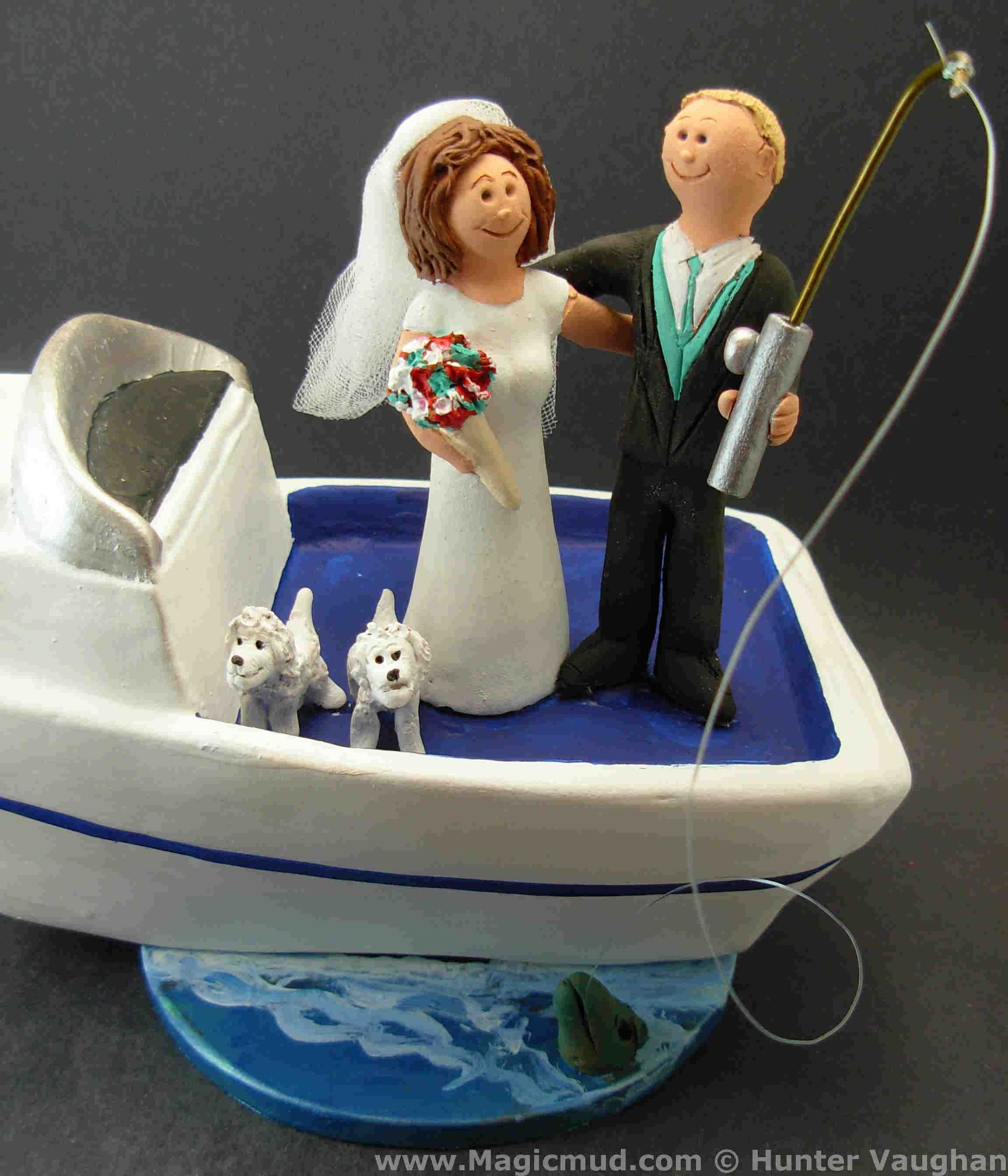 boat wedding cake topper boater s wedding cake toppers www magicmud 1 800 231 1991