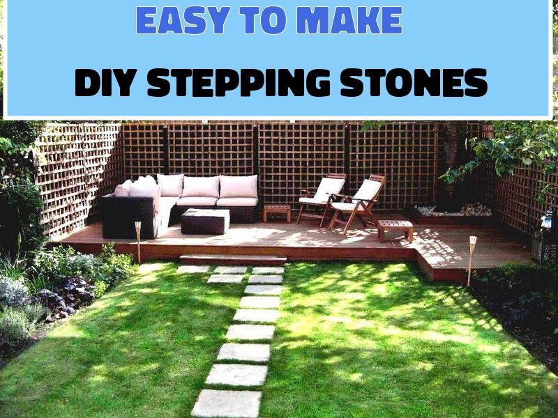 5 Ways To Make Diy Stepping Stones Molds Small Outdoor Patios Garden Design Concrete Patio