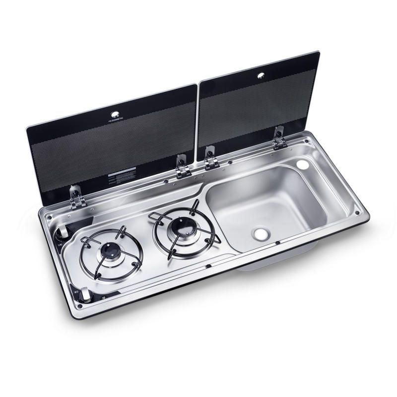 This Compact Two Burner Gas Hob And Sink Combination Brings Useful