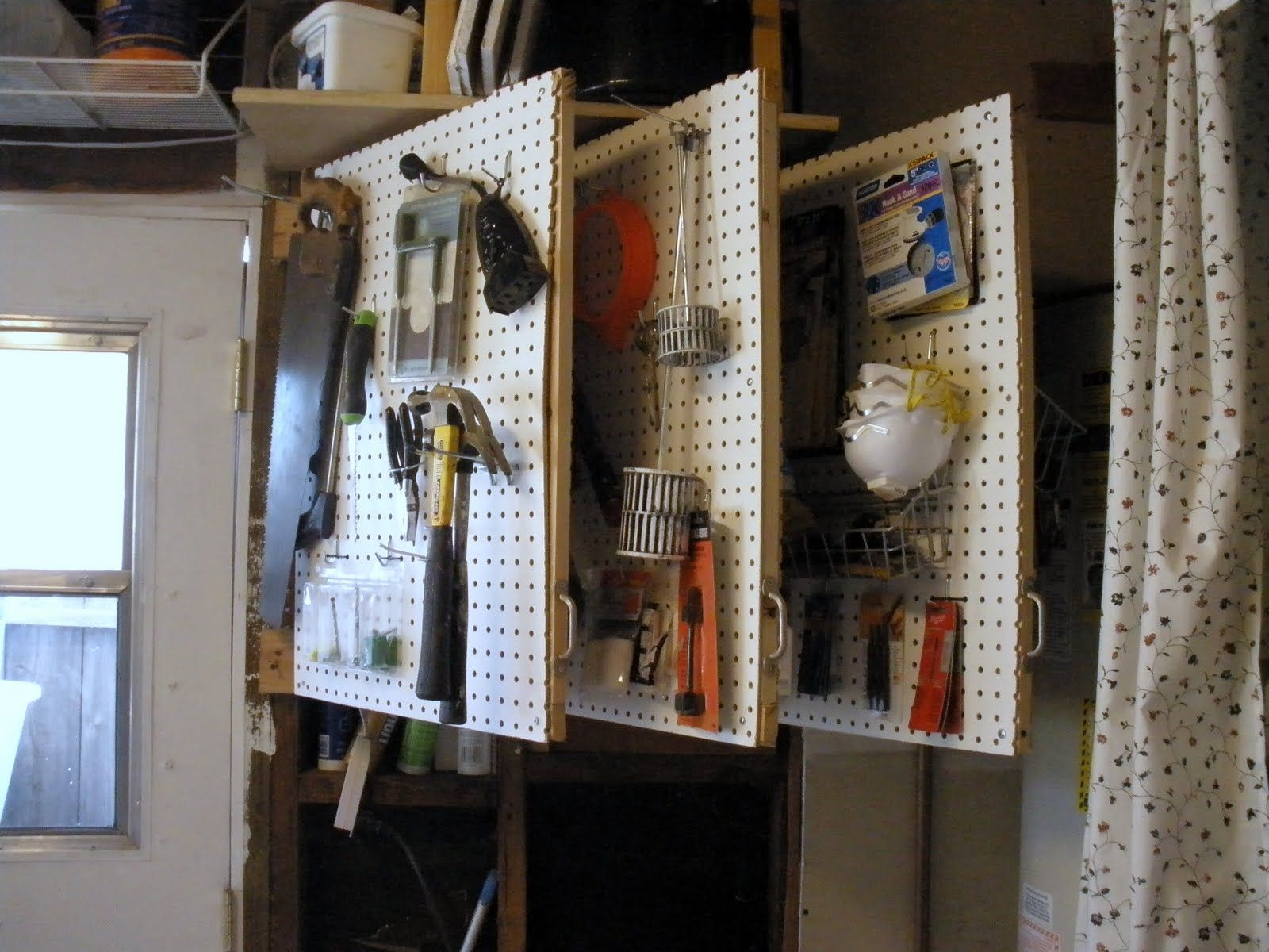 Love It Peg Board Pages Mounted On Wall With Hinges Great For