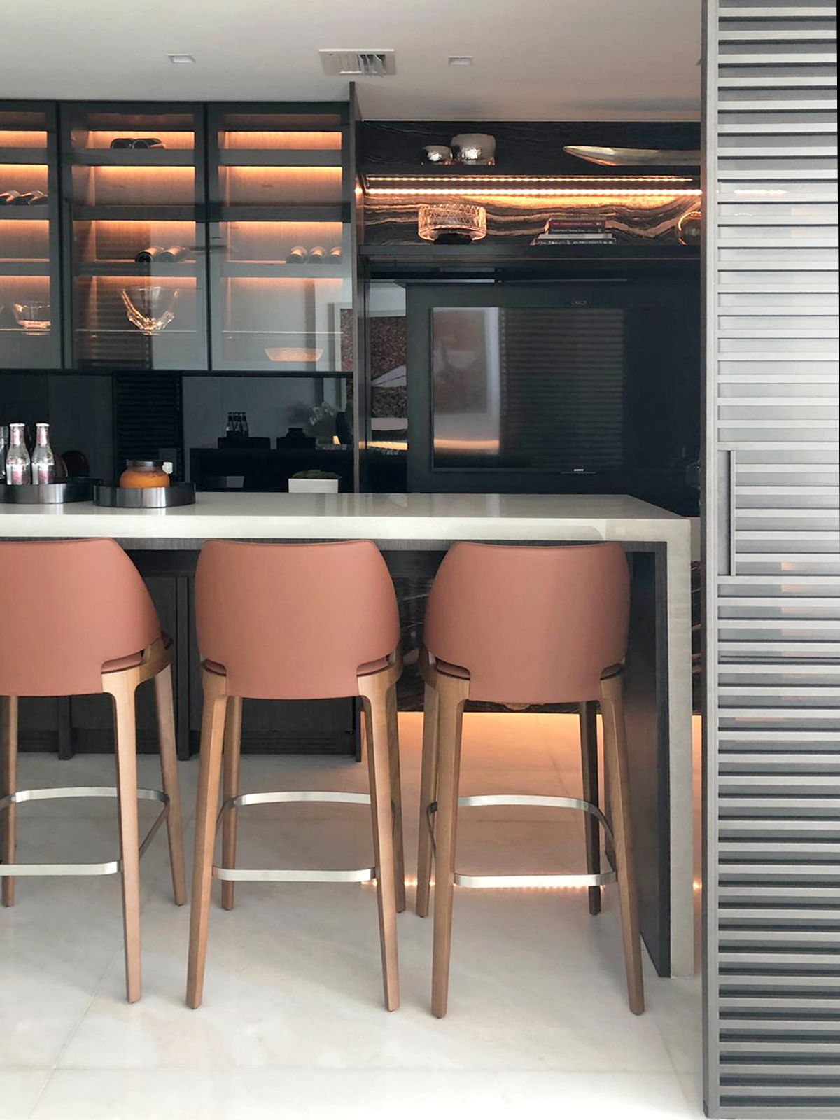 Modern Home Bar Ideas Interior Design Luxury Bar With Sliding
