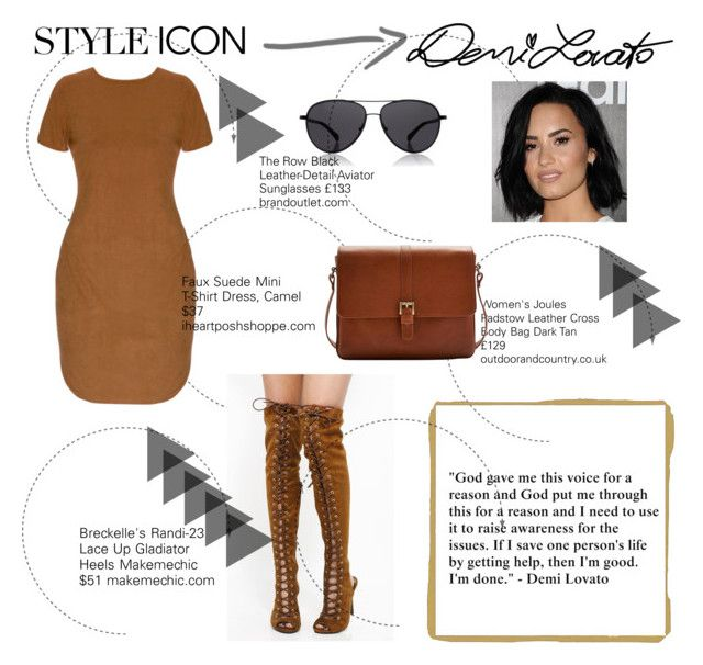 """""""Who Is Your Style Icon?"""" by tessawarongan on Polyvore featuring Breckelle's, Joules, The Row, Samsung, DemiLovato, icon and styleicon"""