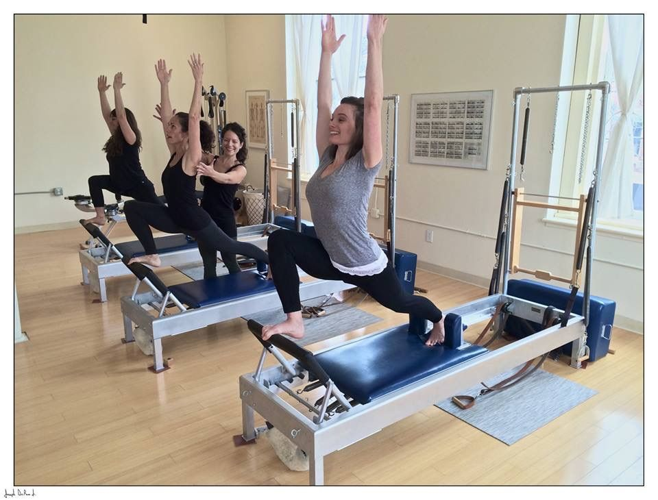 Front splits on the gratz reformers at rhinebeck pilates