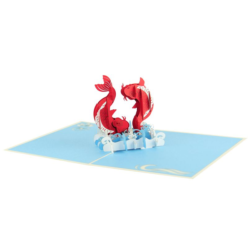 Koi fish greeting card 3d card vietnam pop up card supplier get koi fish greeting card 3d card vietnam pop up card supplier get well 3d cards charm pop m4hsunfo