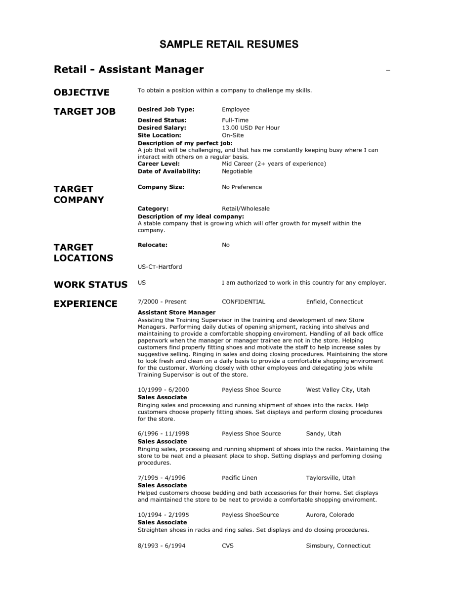 5 Resume Examples For Retail Jobs Sample Resumes You Better Work