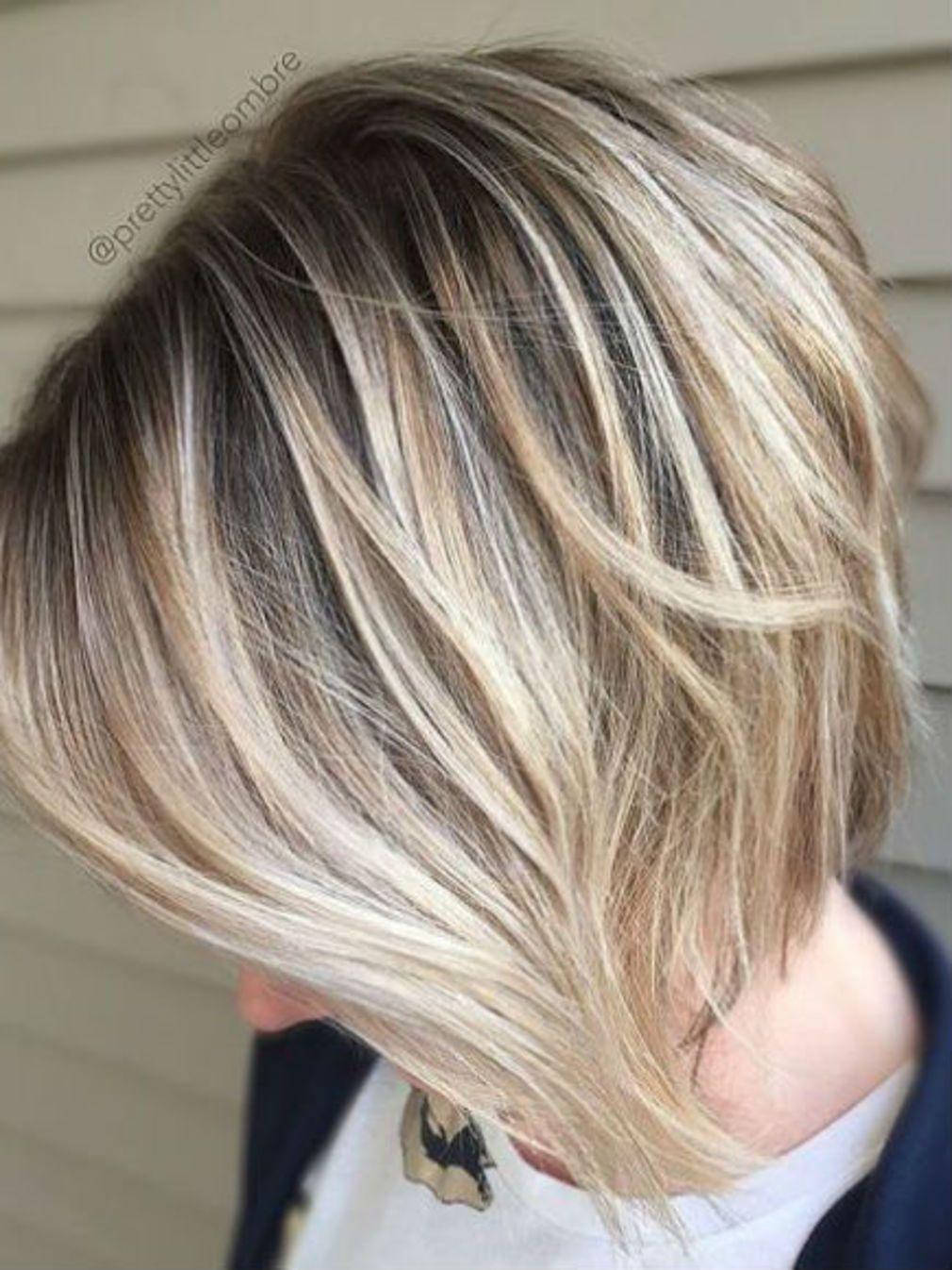 Carre Plongeant Degrade Coupe De Cheveux Cheveux Courts Cheveux Carre