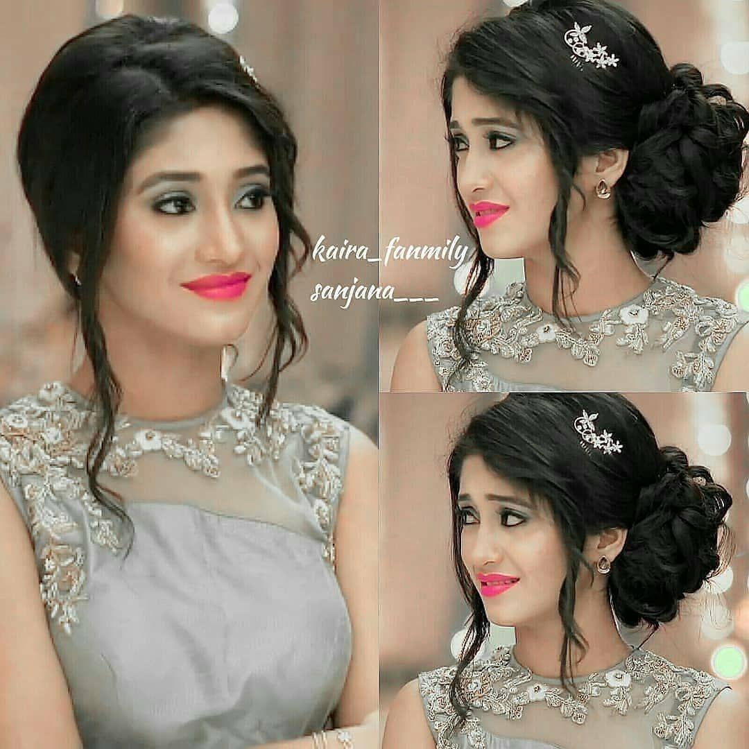How Pretty Shivangijoshi Naira Yrkkh Yehrishtakyakehlatahai Beautyqueen Bestpic Sh Front Hair Styles Hairstyles For Gowns Indian Wedding Hairstyles