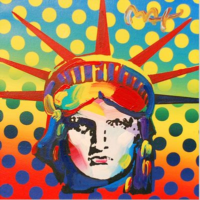 Image result for peter max statue of liberty