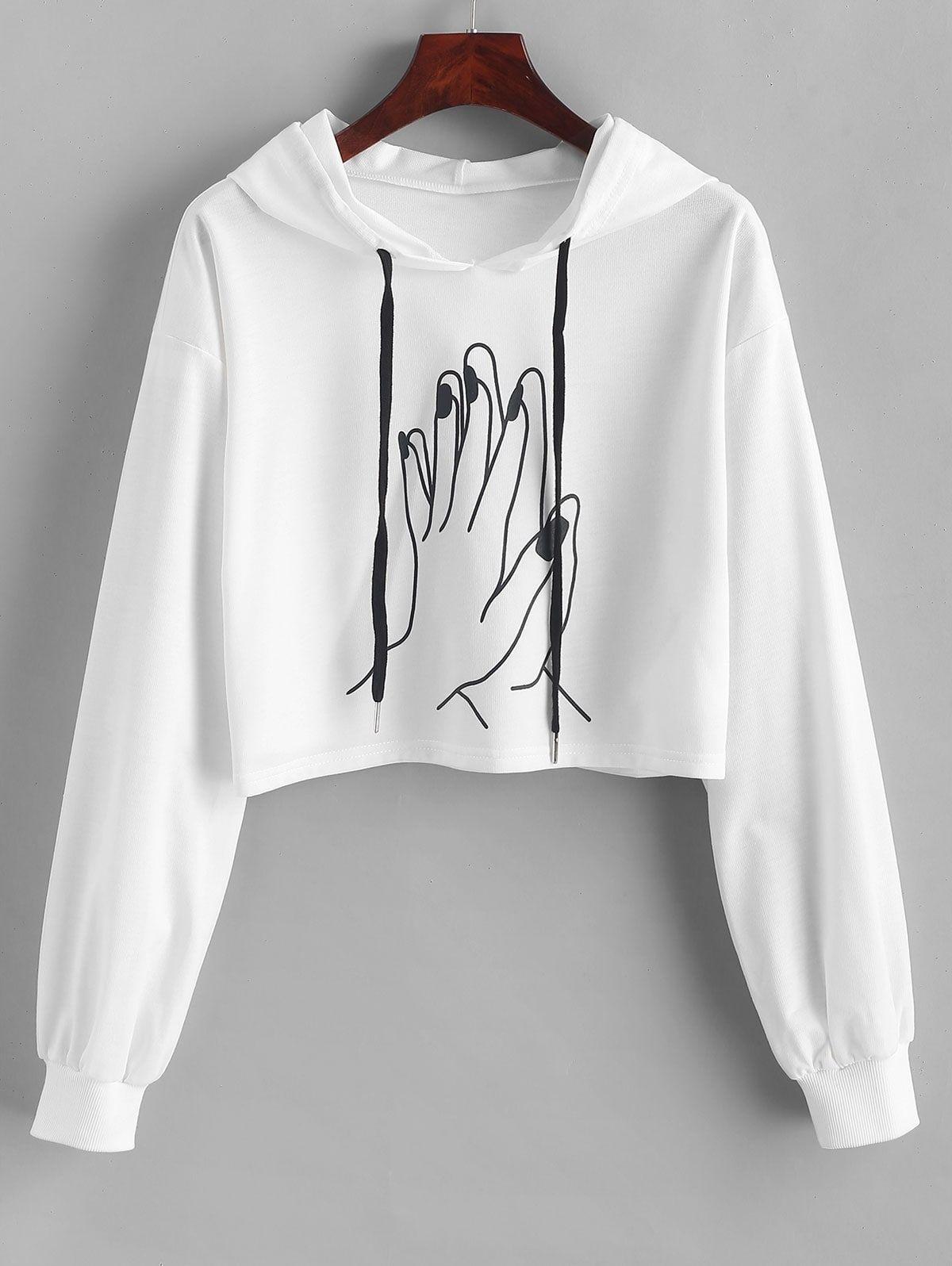 Flower Child Vintage Inspired Off The Shoulder Sweatshirt Wide Neck
