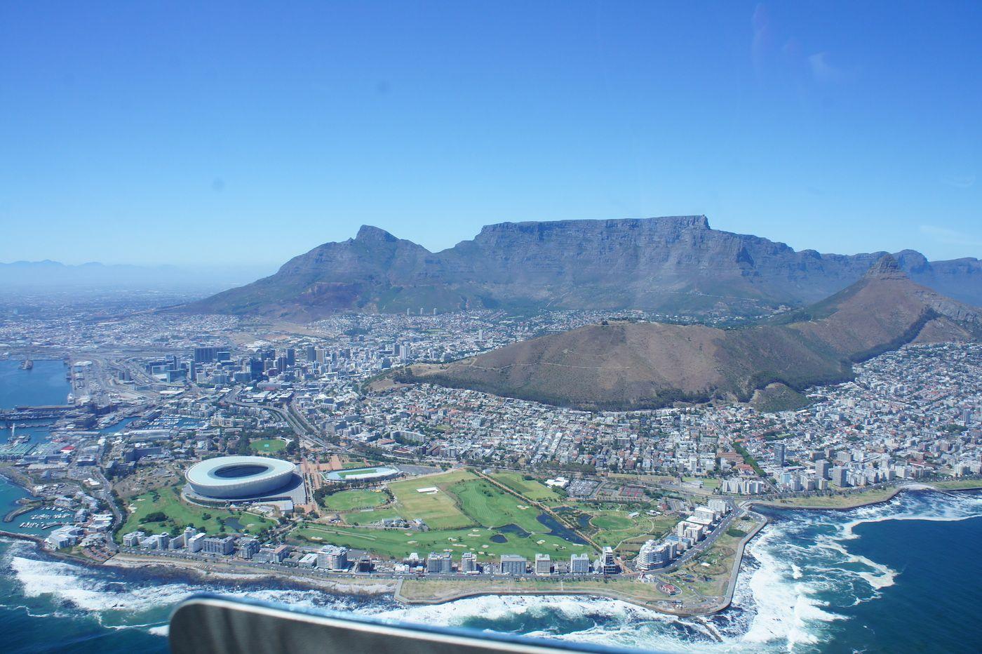 Kapstadt, Helikopterflug