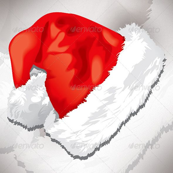 Santa Red Hat Red Hats Vector Graphics Design Red