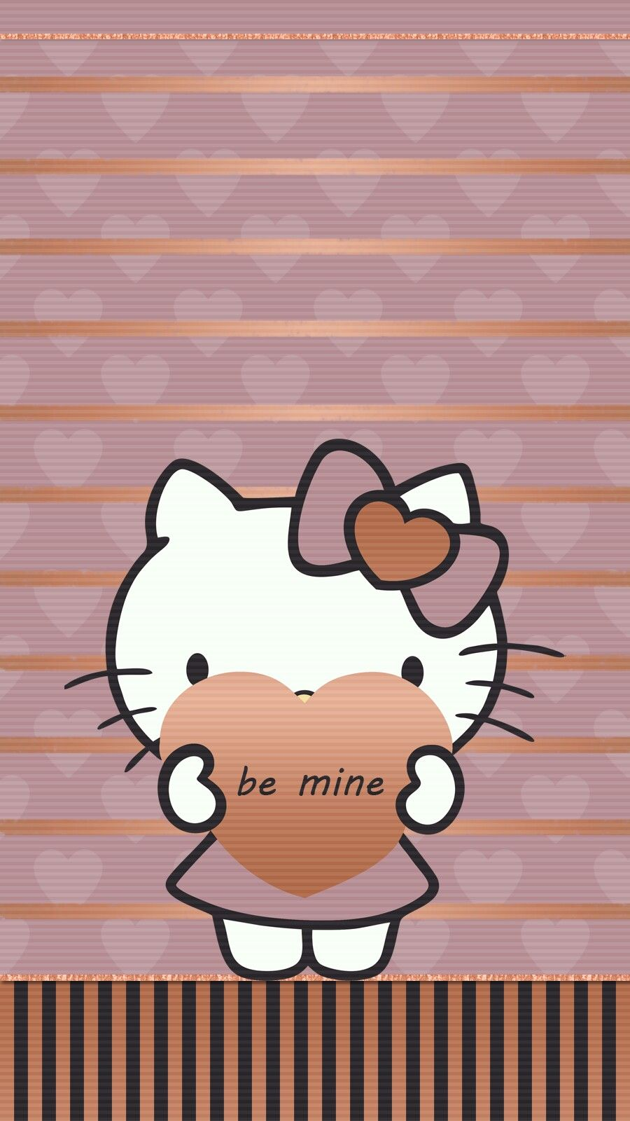Valentine Love Hello Kitty Wallpaper Android Iphone Cute