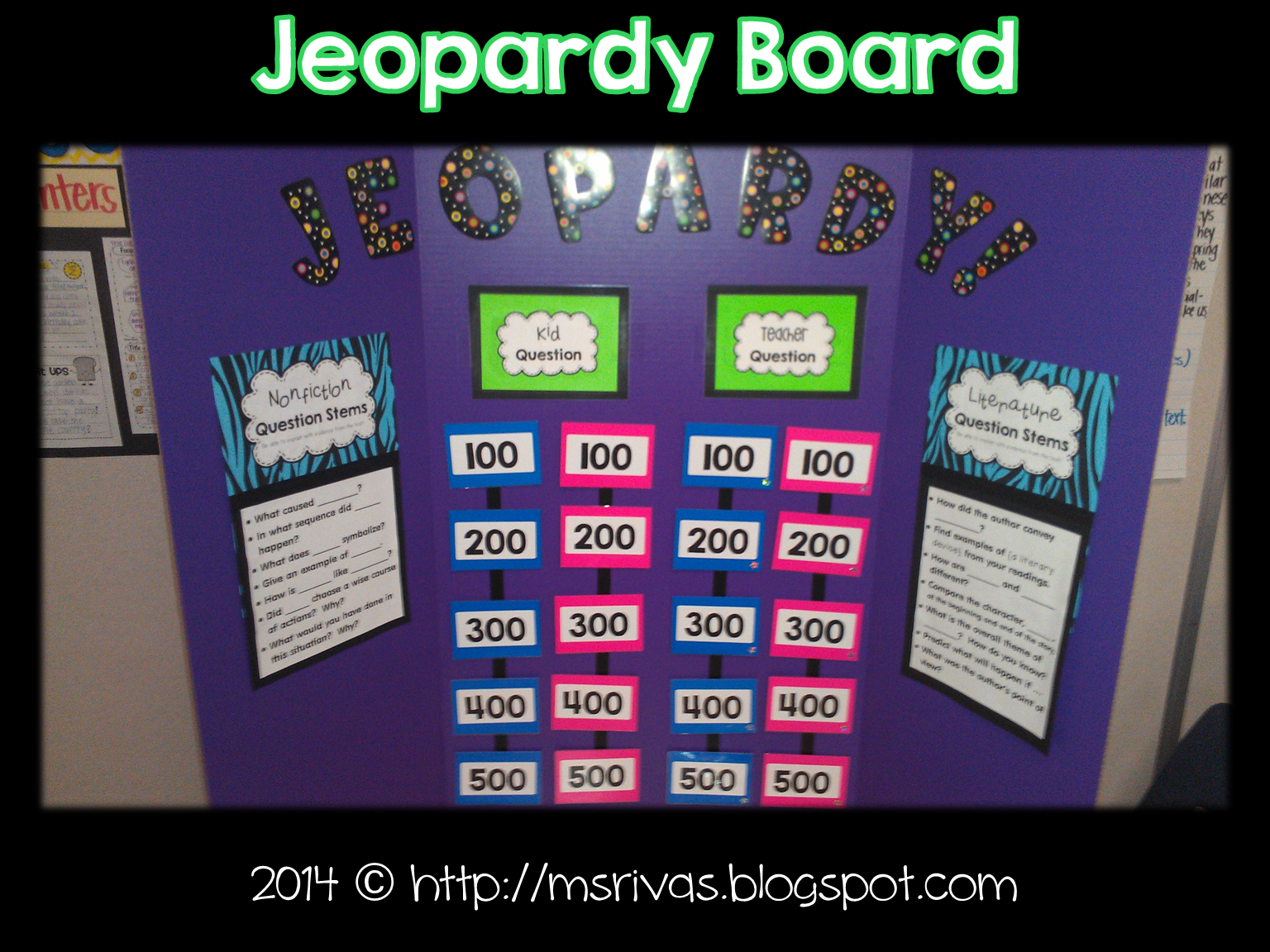 ForkinTh Make A Class Jeopardy Board  Activity Directing