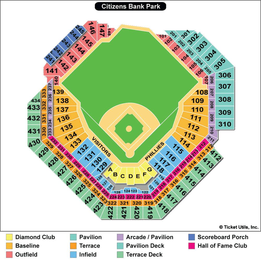 Citizen Bank Park Seating Chart Braves Tickets Phillies Philadelphia Phillies