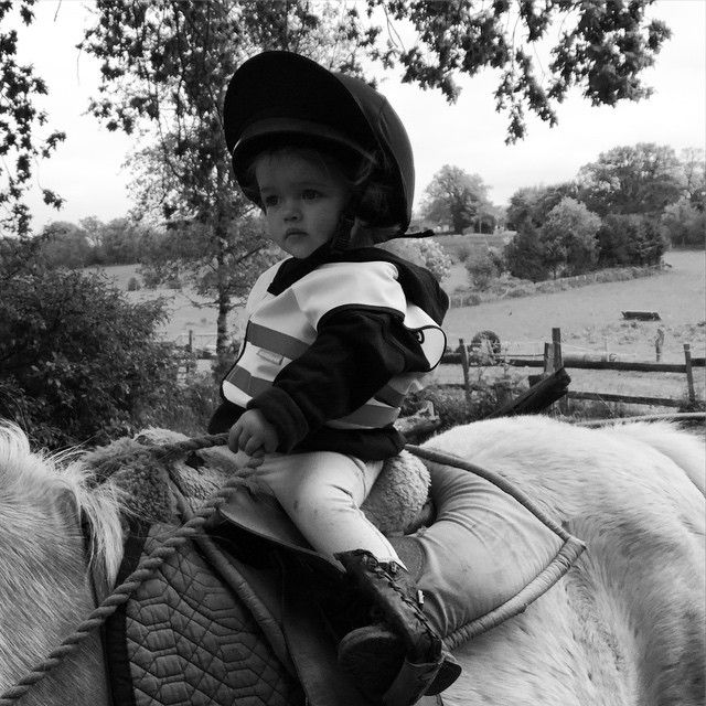 "0ace57eba Kizzy   Etties Pony Adventures on Instagram  ""A mini Kizzy - her first time  out at 14 months old"