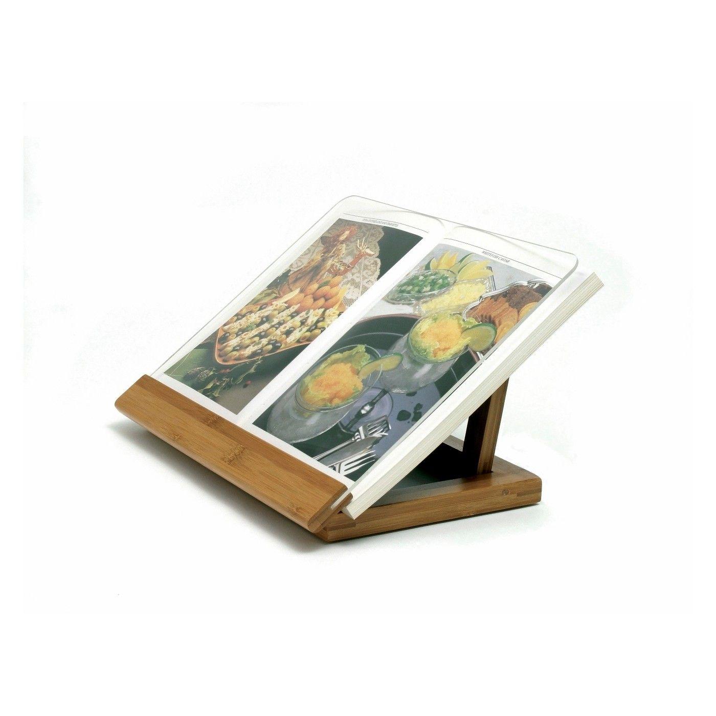 Lipper international bambooacrylic cookbook holder