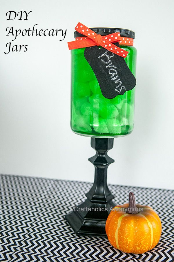 DIY Halloween Apothecary Jar Pickle jars, Apothecaries and Pickling - halloween jar ideas