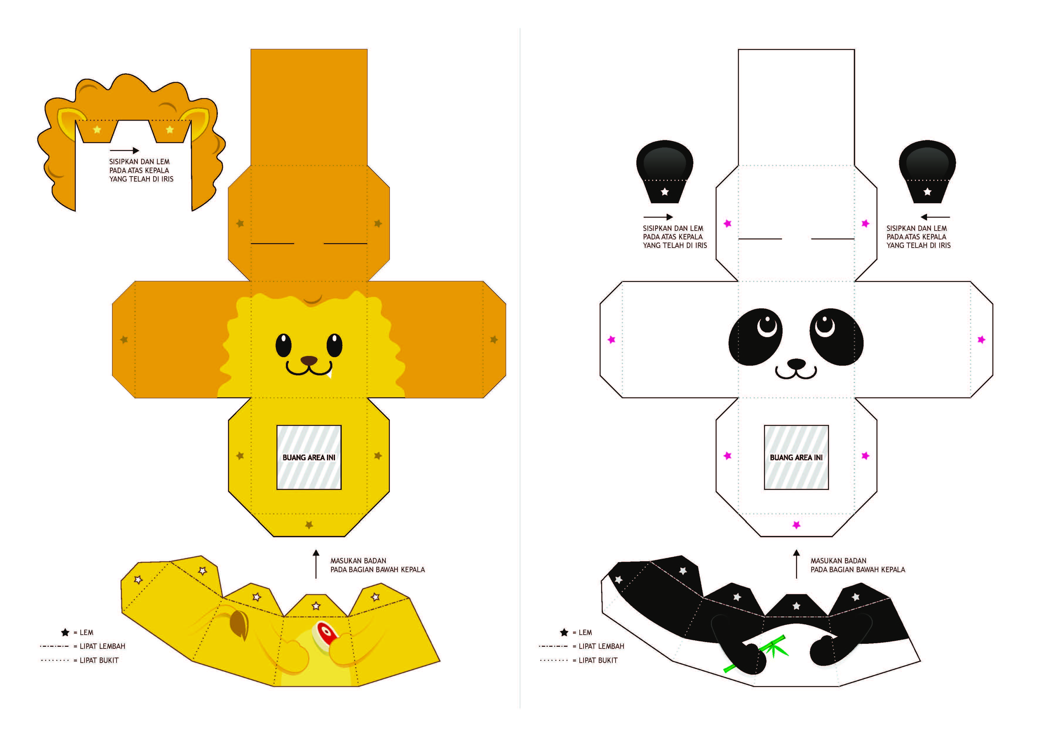 Le o panda papercrafts e moldes pinterest paper for Paper finger puppets templates