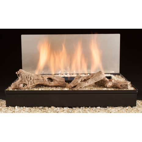 30 Inch Driftwood Twig Vent Free With Fireglass The Fort Gas