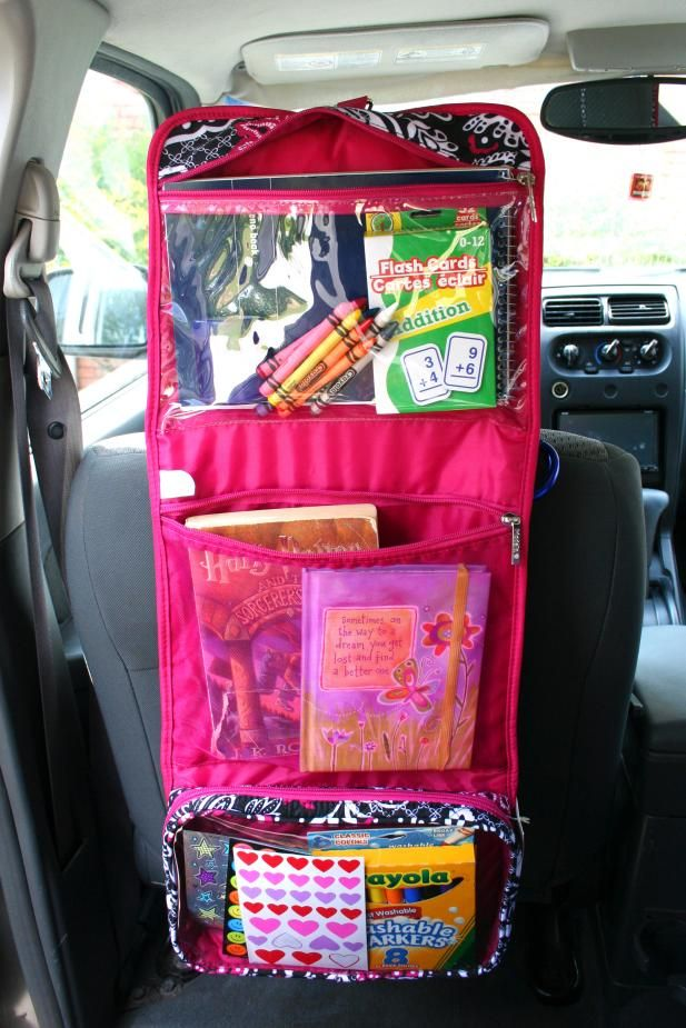"8 Kids Storage And Organization Ideas: 9 ""Why Didn't I Think Of That?"" Car Organizing Hacks"