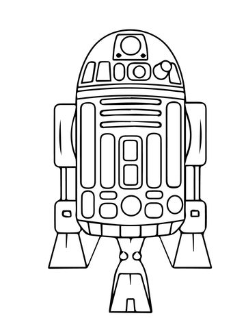 Astromech Droid R2 D2 Coloring Page Free Printable Coloring Pages Star Wars Drawings Star Wars Colors Star Wars Art