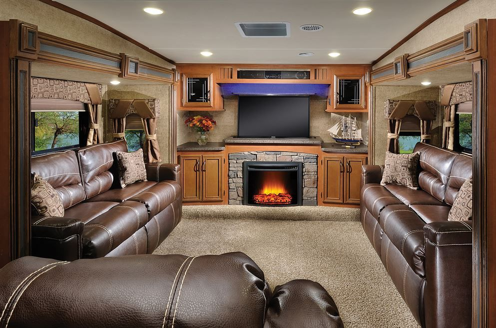 2016 forest river sierra 377flik front living room | rv interiors