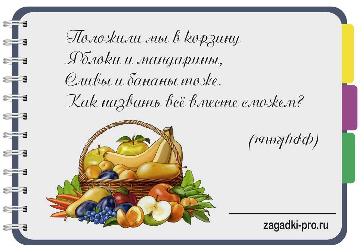 Загадки с картинками еда