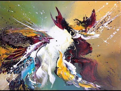 Abstract Malen Verblenden Malen Mit Dem Malmesser V138 Youtube