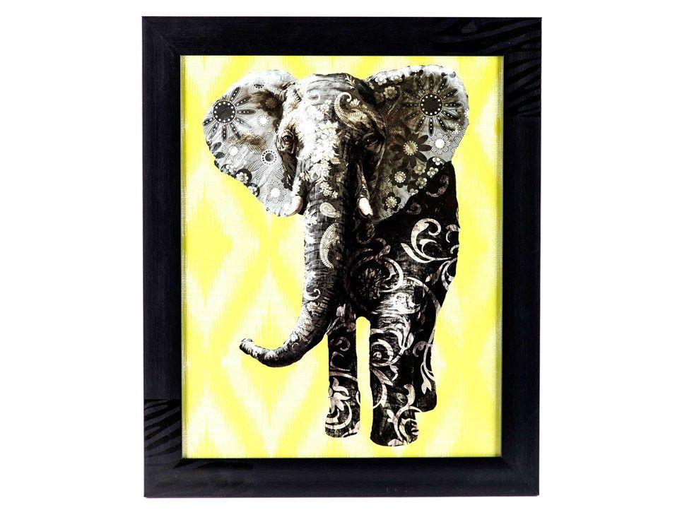 Multi-Patterned Elephant Framed Wall Art | Hobby Lobby & Michaels ...