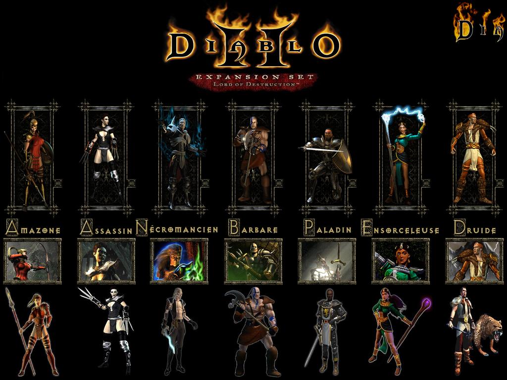 Diablo II Character classes. I I have always preferred the barbarian!